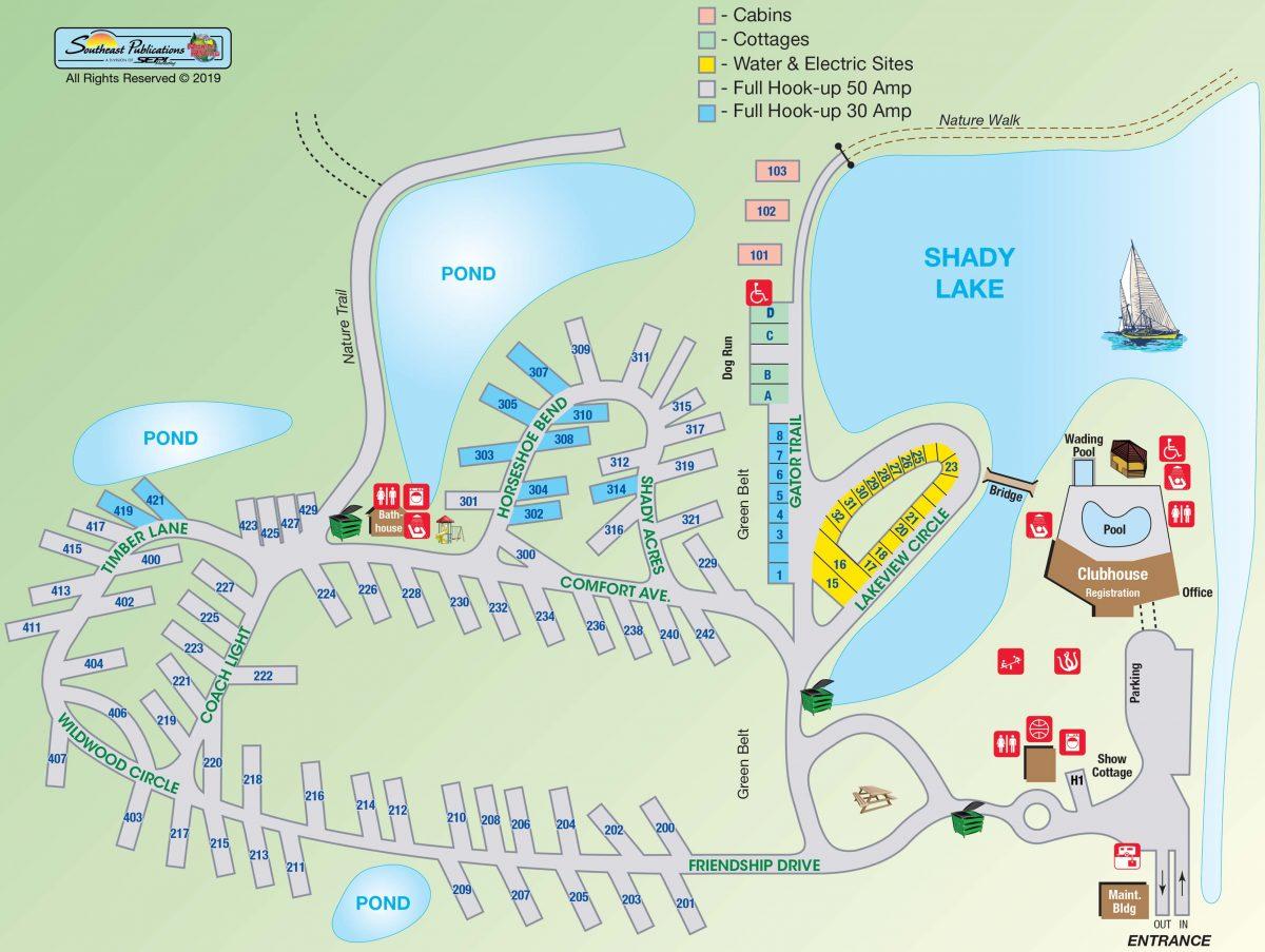 Abita Springs RV Resort - Resort Map